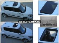 KIA Soul с установленным люком Hollandia 730-III Comfort