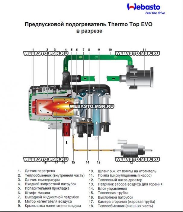 Запуск webasto thermo top c климат в салоне. Системы охлаждения.